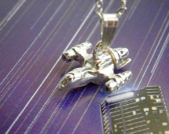 Sterling Silver Firefly Charm Pendant