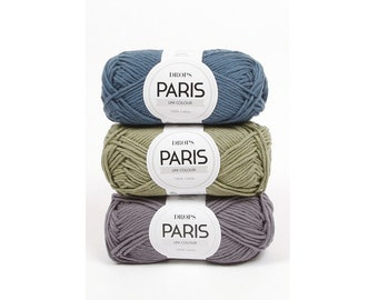 DROPS Paris, Knitting yarn, Cotton yarn, Crochet yarn, Crochet cotton yarn, Aran yarn, Worsted yarn, Summer yarn, Soft yarn, Natural yarn