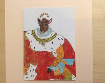 King Warthog greeting card