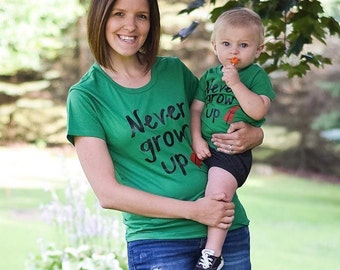 NEVER GROW UP womens shirt tee