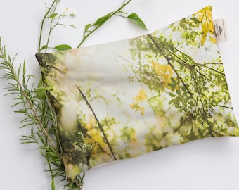 Efflorescence No 6819, Flowery Heat Pad, Relaxation Pillow, Heat Pack. Microwavable and Washable Heat pad.