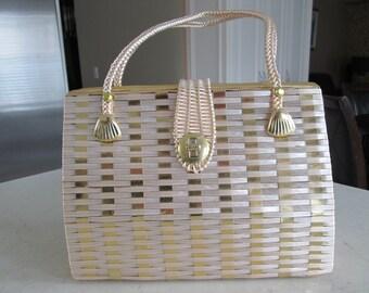 Vintage Wicker Handbag Purse