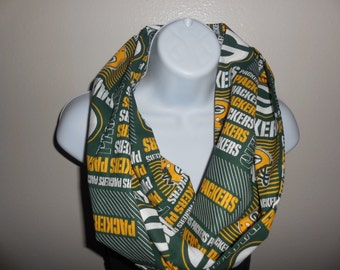 Green Bay Packer Cotton Infinity Scarf
