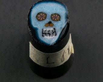 Bleu Skull par Greg Chase Murrine Boro canne 11 grammes - 144 L