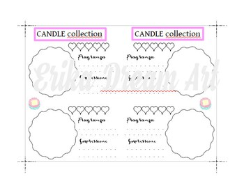 Insert size A6 / candle collection / PDF