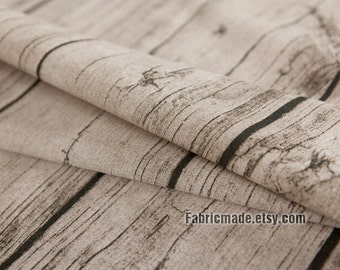 Linen Fabric, Wood Grain Linen Cotton Blend Fabric, Tree Bark Fabric Nature For Bag Photo Background- 1/2 Yard