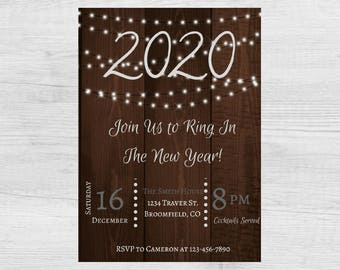 New Years Eve Party Invitation / End Of School Year / NYE Party Invitation / NYE / Ring In The New Year Celebration / New Year / Digital