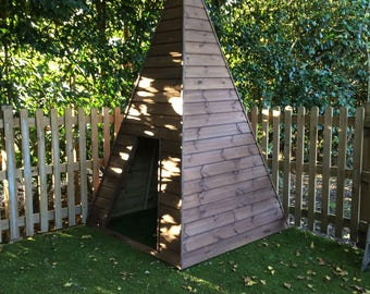 wooden teepee childs playhouse reading room garden playground