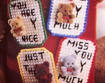 Bear Message Magnets Cute Refrigerator Magnet Kitchen Decoration Needlepoint
