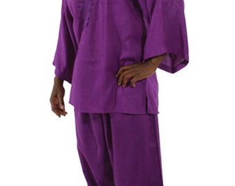 Africa  Formal Pant Set - Purple