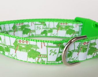 Mint Julep Dog Collar / Kentucky Derby Dog Collar / Summer Dog Collar