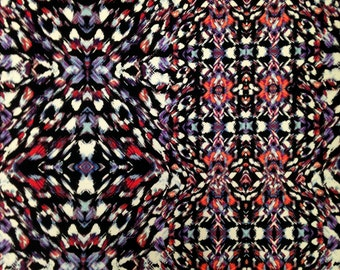 Kaleidoscope Geometric Print on Stretch ITY Knit Jersey Polyester Spandex Fabric - 58 to 60 Inches Wide - By the Yard or Bulk