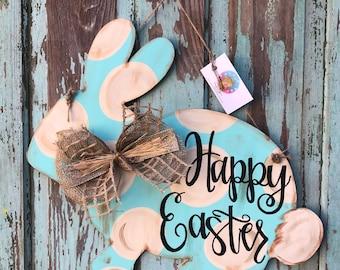 Easter Bunny Door Hanger / Easter Decoration / Spring / Outdoor Decoration / Door Decor / Home Decor / Spring Decor / Outdoor / front door