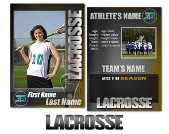 "Lacrosse ""Graphite"" Cards Templates"