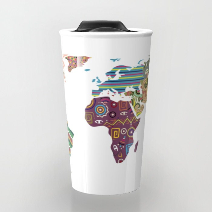 World map travel mug cute travel mug ceramic mug unique coffee world map travel mug cute travel mug ceramic mug unique coffee mugs tea mug travel gift gumiabroncs Choice Image