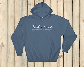 Find a Cure Eosinophilic Esophagitis EoE EE Hoodie Sweatshirt - Choose Color