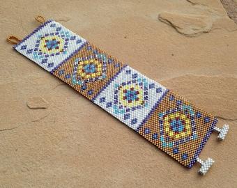 Southwest Diamonds Cuff Bracelet