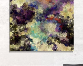 Violet Abstract Painting, Abstract Wall Art, Abstract Print for Wall Decor, Contemporary Abstract Art, Large Abstract Painting / Print