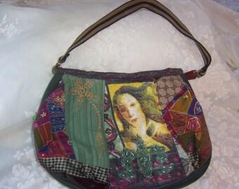 Vintage Handmade Hobo  Shoulder Bag Purse