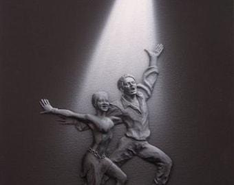 Spotlight Art - Couples Skating