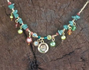 Aventurine ~ SoulSpeaker Charmed Necklace