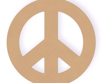 10 inch Peace Sign Wood Craft Cut Out Shapes