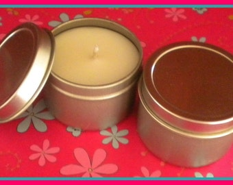 Soy Candle - French Vanilla scented - Travel Candle - 2 oz - Free U.S. Shipping