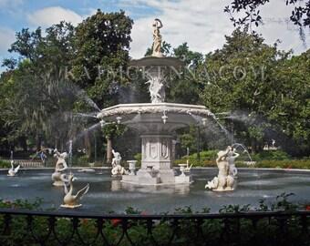 Forsyth Park Fountain at Savannah, Georgia