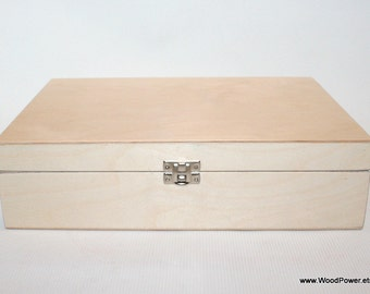 Wooden Box for DIY Projects/ Unfinished Wooden Box with 12 Compartments / Storage Box / Keepsake Box / Collection Storage Box