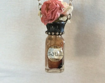 Soldered Vintage Apothecary Vase Necklace NS-003