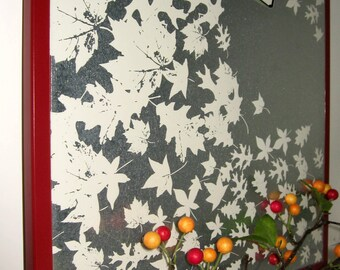 Leaves ..Magnet Dry Erase Steel Memo Board / message board /  housewarming coworker gift / organization / desk / office decor / decorative
