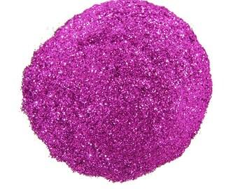 Fuchsia Glitter, SOLVENT RESISTANT, Glitter, 0.015 Hex, Glitter Nail Art, Glitter Nail Polish, Glitter Crafts, Purple Nail Glitter, Slime