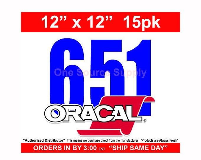 "12""x 12""* / 15-sheets / Oracal 651 Gloss Finish Vinyl - PSV- Craft Vinyl - Decal Vinyl"