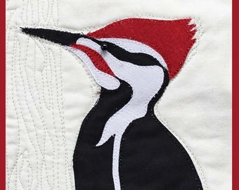 Pileated Woodpecker Bird Quilt Pattern - Digital Download