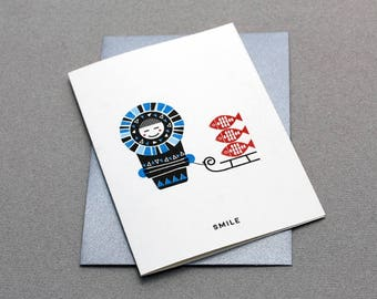 Card Eskimo - Smile