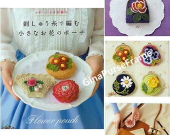 Tutorials PDF  ( Flower Pouch ) Crochet handmade bag , Crochet frame coin purse , Frame purse making
