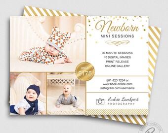 Newborn Mini Session Template | Newborn Photography Marketing Board | Photoshop Template | Newborn Photography Marketing Template