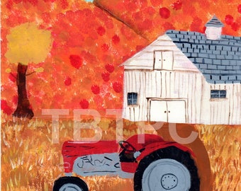 Fall Barn and Tractor Pattern Packet for painting, coloring or markers