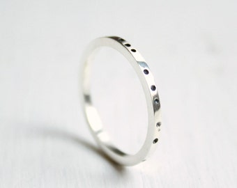 """Sterling silver ring """"Air"""""""