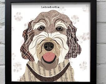 Labradoodle dog print