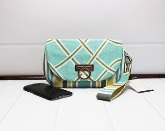 Smartphone Wallet - Iphone Clutch Purse - Cellphone Wallet - Flap Clutch - Zipper Wristlet - Wrist Strap Purse - Christmas Gift