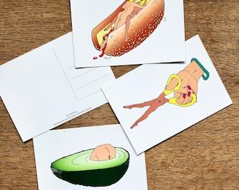 LOT DE 3 Cartes postales