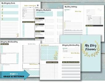 mtn inserts Blog Planner dori notebook traveler refill pages Midori style insert tn fox dori Chic sparrow Regular size Resize is FREE