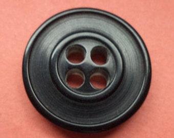 10 Small Buttons Black 15mm (98) Shirt buttons