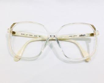 Vintage 1980's Silhouette Oversized Plastic Eyeglasses made in Austria
