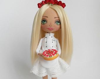 Cook Chef Dolls Gift for chef Gift for cook Rag Dolls Handmade dolls Art dolls Ooak dolls Cloth dolls Fabric dolls Soft toys Master chef
