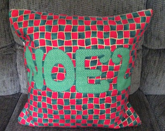 Christmas Noel Quilted Pillow Cover