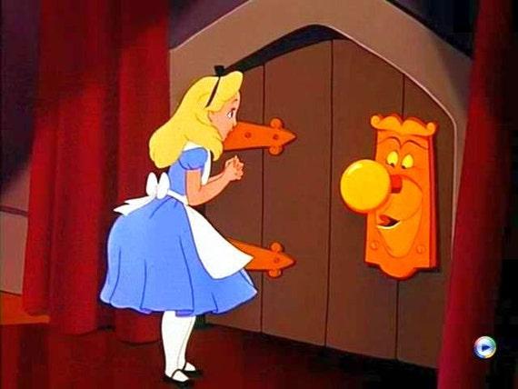1 Alice In Wonderland Life Size Doorknob FaceWorking Movie