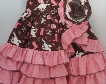 Baby girl ruffled dress size 6/12 months