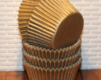 Gold Sheen Heavy Duty Cupcake Liners (Qty 40) Gold Cupcake Liner, Gold Baking Cup, Gold Cupcake Wrappers, Gold Muffin Cups, Baking Cups,